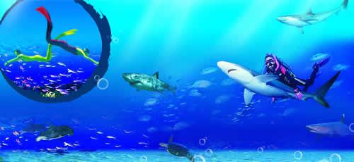 壁纸 海底 海底世界 海洋馆 水族馆 桌面 500_230