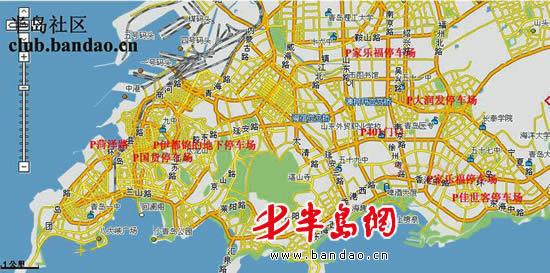 青岛地图想象画